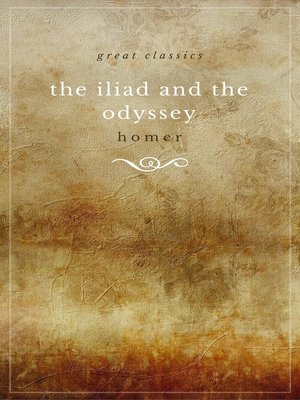 cover image of THE ILIAD and THE ODYSSEY (complete, unabridged, and in verse)