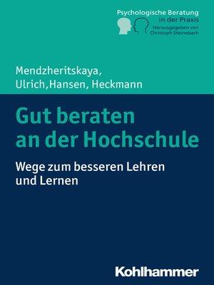 cover image of Gut beraten an der Hochschule