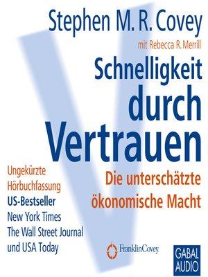 cover image of Schnelligkeit durch Vertrauen