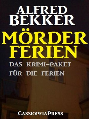 cover image of Mörderferien