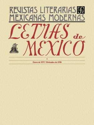 cover image of Letras de México I, enero de 1937- diciembre de 1938