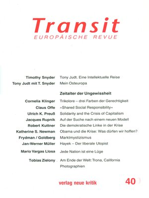 cover image of Transit 40. Europäische Revue