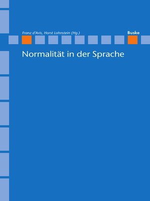 cover image of Normalität in der Sprache