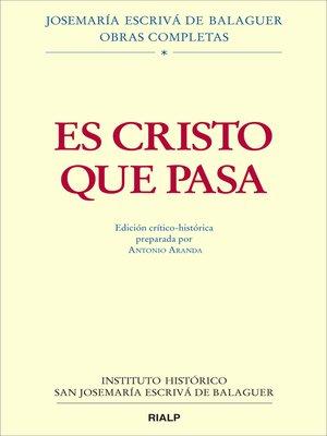 cover image of Es Cristo que pasa