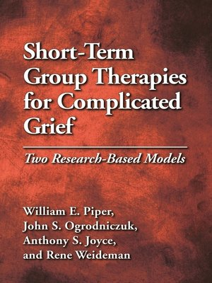 cover image of Short-Term Group Therapies for Complicated Grief