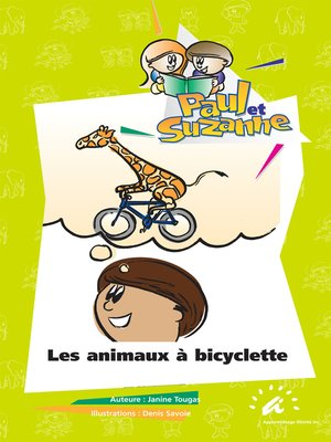 cover image of Les animaux à bicyclette