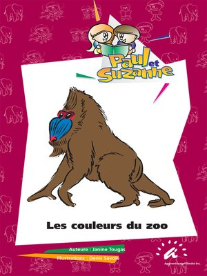 cover image of Les couleurs du zoo