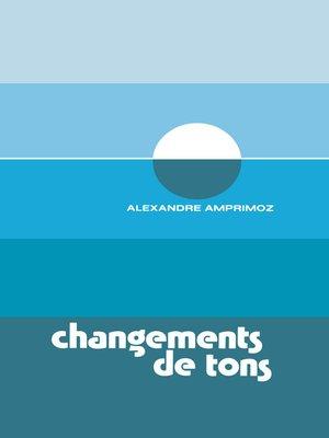 cover image of Changements de tons