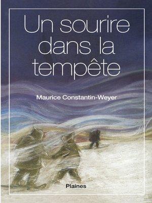 cover image of Un sourire dans la tempête