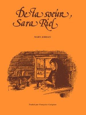 cover image of De ta soeur, Sara Riel