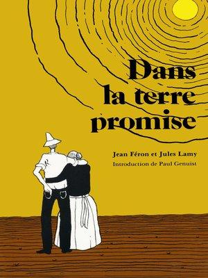 cover image of Dans la terre promise