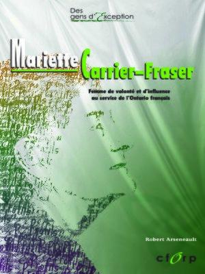 cover image of Mariette Carrier-Fraser