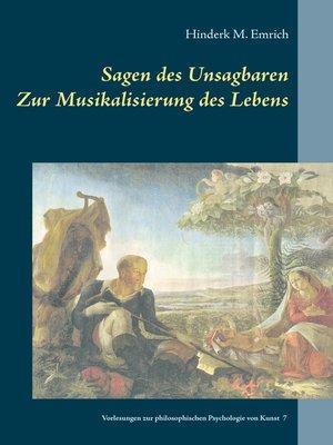 cover image of Sagen des Unsagbaren