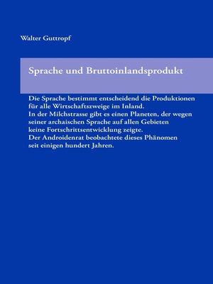 cover image of Sprache und Bruttoinlandsprodukt