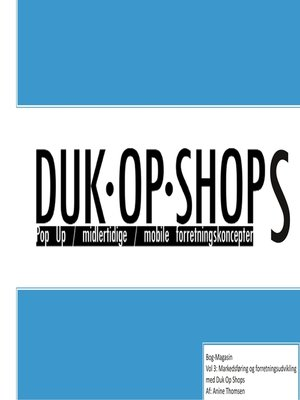 cover image of Duk Op Shops vol 3.1