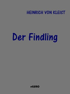 cover image of Der Findling