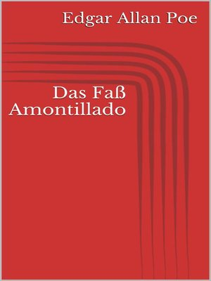 cover image of Das Faß Amontillado