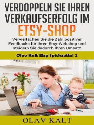 cover image of Verdoppeln Sie ihren Verkaufserfolg im Etsy-Shop