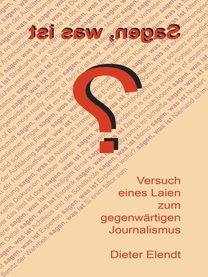 cover image of Sagen, was ist?