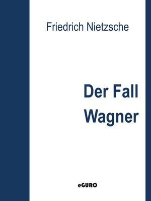 cover image of Der Fall Wagner