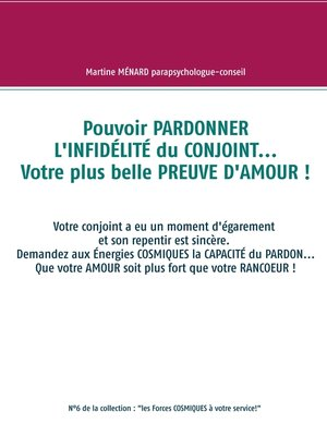 cover image of Pouvoir PARDONNER L'INFIDÉLITÉ du CONJOINT... Votre plus belle PREUVE D'AMOUR !