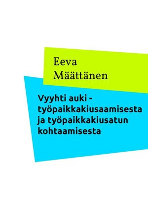 cover image of Vyyhti auki