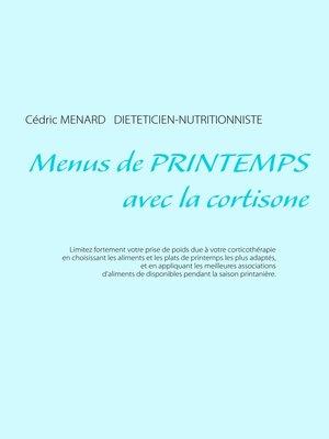 cover image of Menus de printemps avec la cortisone