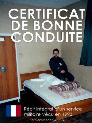 cover image of Certificat de bonne conduite