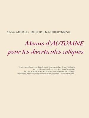 cover image of Menus d'automne pour les diverticules coliques