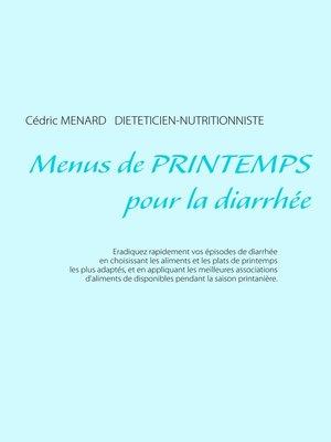 cover image of Menus de printemps pour la diarrhée