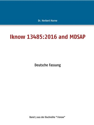 cover image of Iknow 13485 -2016 and MDSAP