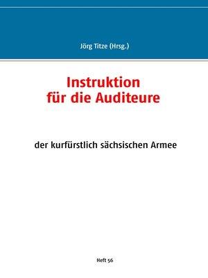 cover image of Instruktion für die Auditeure