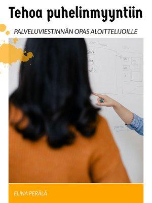 cover image of Tehoa puhelinmyyntiin