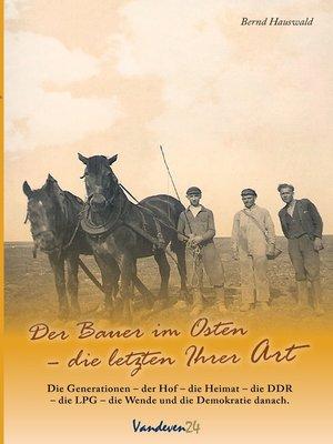 cover image of Der Bauer im Osten