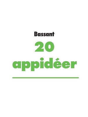 cover image of 20 appidéer