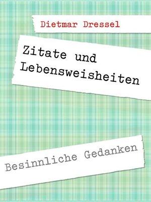 cover image of Zitate und Lebensweisheiten