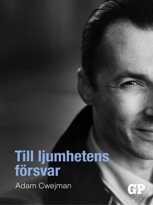 cover image of Till ljumhetens försvar