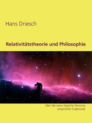 cover image of Relativitätstheorie und Philosophie
