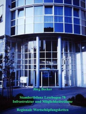 cover image of Standortbilanz Lesebogen 78 Infrastruktur und Möglichkeitsräume