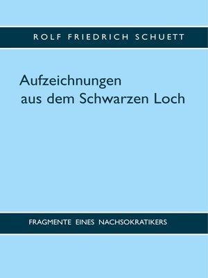 cover image of Aufzeichnungen aus dem Schwarzen Loch
