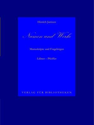 cover image of Namen und Werke 10