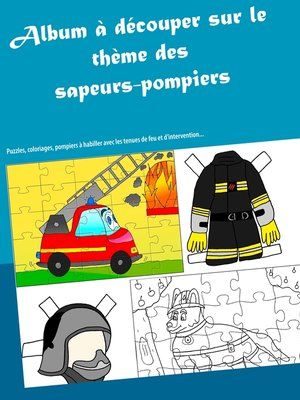 cover image of Album à découper sur le thème des sapeurs-pompiers