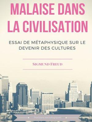 cover image of Malaise dans la civilisation