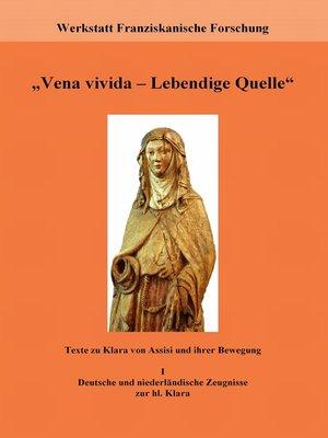 "cover image of ""Vena vivida--Lebendige Quelle"""