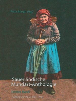cover image of Sauerländische Mundart-Anthologie III