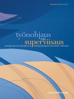 cover image of Työnohjaus vai superviisaus