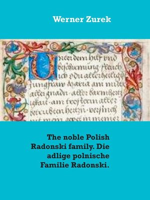 cover image of The noble Polish Radonski family. Die adlige polnische Familie Radonski.