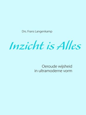 cover image of Inzicht is Alles