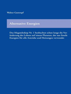 cover image of Alternative Energien