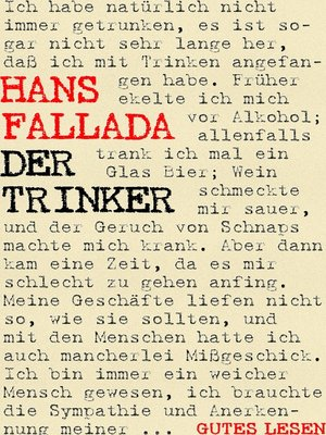 cover image of Der Trinker